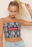 Alabama Snakeskin Tube Top