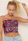 Alabama Collage Tube Top