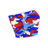 Red White & Blue Camo Bandeau Top