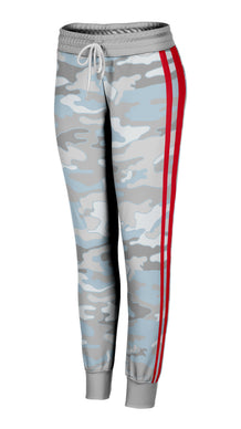 Beachy Camo Red Striped Joggers
