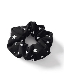 Mini Stars Black Scrunchie