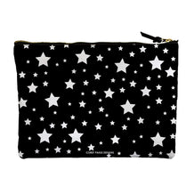Black & White Stars Large Accessory Pouch