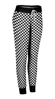Black and White Checkered Joggers