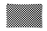 Black & White Checkered Accessory Pouch