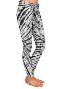 Black & White Tie Dye Leggings