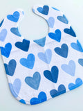 Painted Hearts Baby Bib