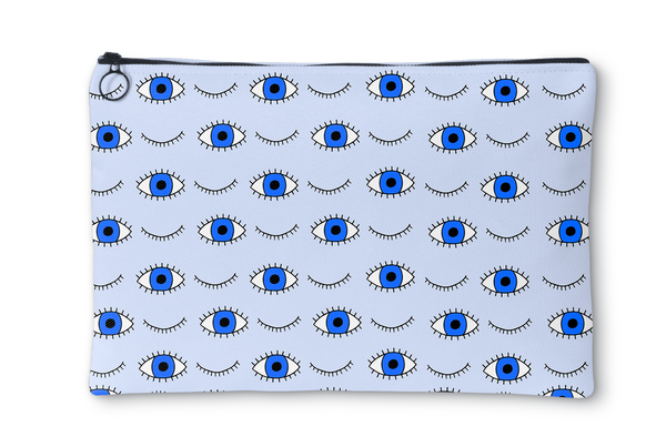 Blue Eyes Light Blue Accessory Pouch