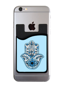 Blue Hamsa Card Caddy