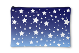 White Stars Blue Ombre Accessory Pouch
