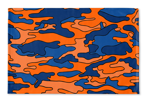 Orange & Blue Camo Floormat