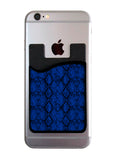 Blue Snakeskin Card Caddy