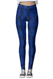 Blue Snakeskin Leggings
