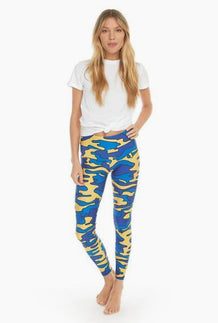 Blue & Yellow_ Colored Camouflage Leggings