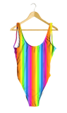 Rainbow Thin Striped One-Piece