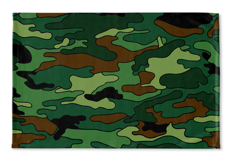 Green & Brown Camo Floormat