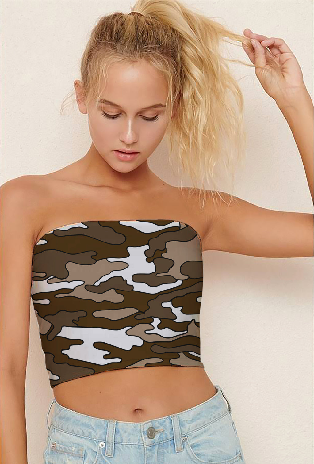 Colored Camouflage Tube Tops