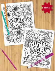 Mother's Day Coloring Sheet Pack