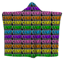 Camp Bubble Letters Hoodie Blanket