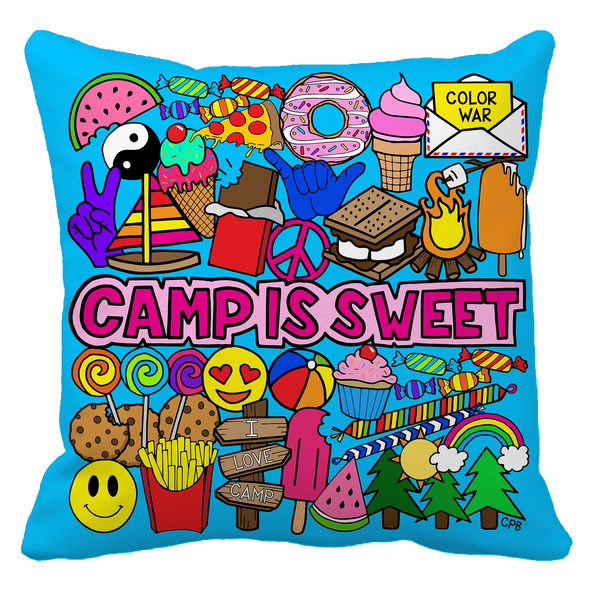 Camp Is Sweet Throw Pillow
