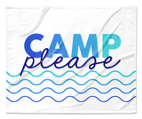Camp Please Blue Waves Blanket