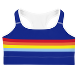 Candy Stripe Sports Bra