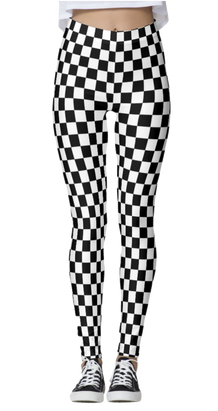 Checkered Black & White Leggings