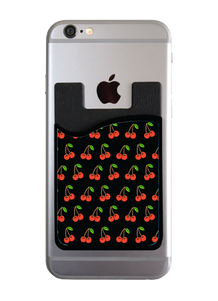 Cherries - Black Card Caddy