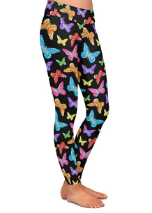 Colorful Butterflies Leggings