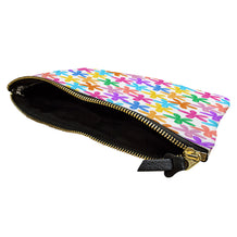 Colorful Painted Flowers Accessory Pouch