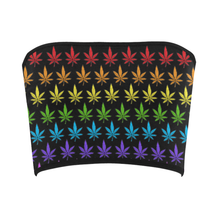 Rainbow Weed Bandeau Top