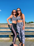 Gray Snakeskin Leggings
