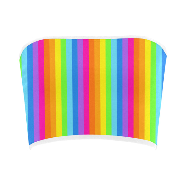Rainbow Striped Bandeau Top