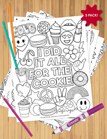 Corey Paige x Dana's Bakery Coloring Sheet Pack