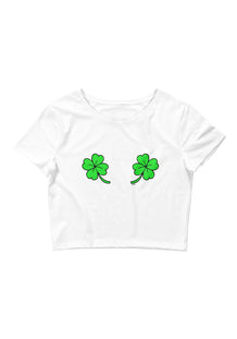 Double Shamrock Women's Cropped Tee