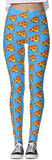 Dripping Pizza Blue Thick Band Leggings