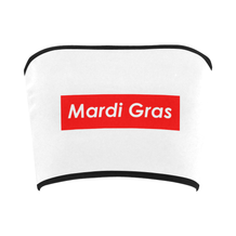 Mardi Gras Supreme Single Block Bandeau Top