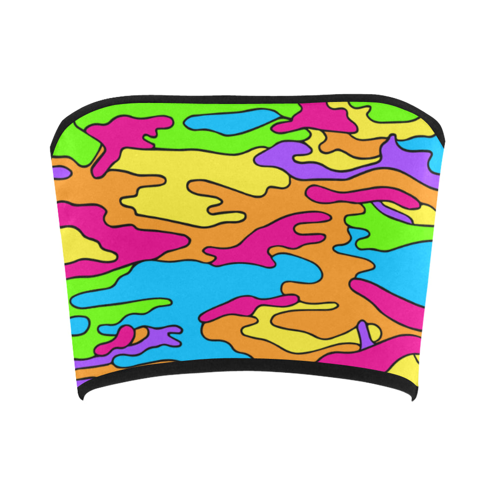 Rainbow Camo Bandeau Top