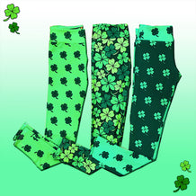 Shamrock Pattern Leggings