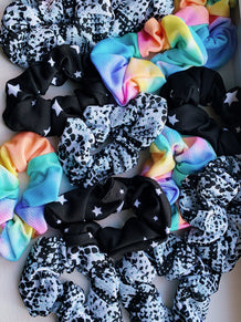 Gray Snakeskin Scrunchie