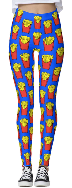French Fries Thick Band Leggings