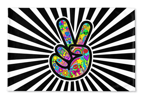 Funky Peace Sign Floormat
