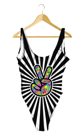 Funky Peace Sign One-Piece