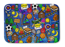 Galaxy Camp Bathmat