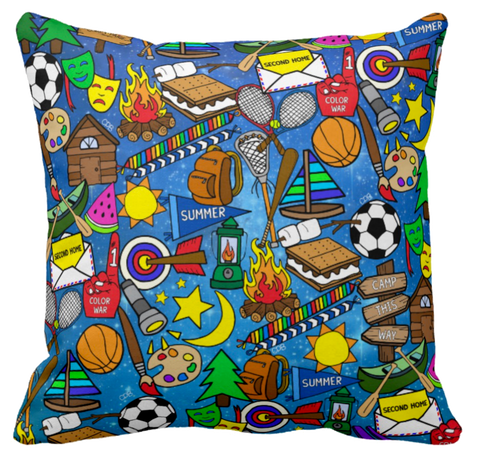 Galaxy Camp Throw Pillow