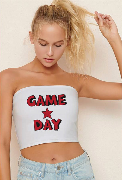 Game Day Star Stacked Tube Top