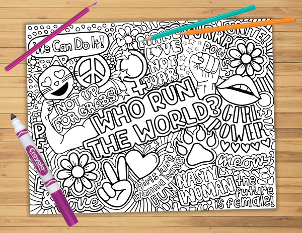Girl Power Coloring Sheet