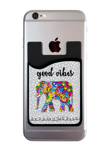 Good Vibes Elephant Card Caddy