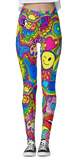 Hippie Collage Thick Band Leggings