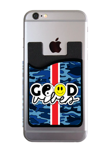 Good Vibes Navy Camo Stripe Card Caddy
