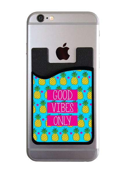 Pineapples Good Vibes Only Card Caddy